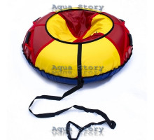 Санки надувные Тюбинг 100 см (Желто-Красный)