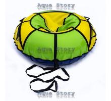 Санки надувні Тюбінг 100 см (Жовтий-Зелений)