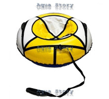 Санки надувные Тюбинг 100 см (Белый-Желтый)