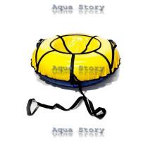 Санки надувні Тюбінг 100 см (Жовтий)