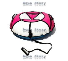 Санки надувні Тюбінг 100 см (Білий-Рожевий)