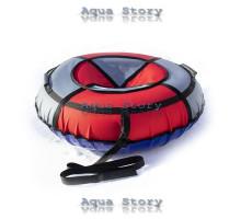 Санки надувные Тюбинг 100 см (Красно-серый)