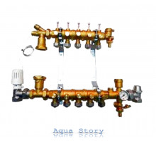 "Модульный коллектор для систем теплого пола Giacomini R53Y005 1/2""x1""x3/4E (5 контуров)"