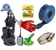 Дренажно-фекальный насос DRF1100MIXERF Rudes +10м шланг +хомут +перчатки +Силушка 100гр